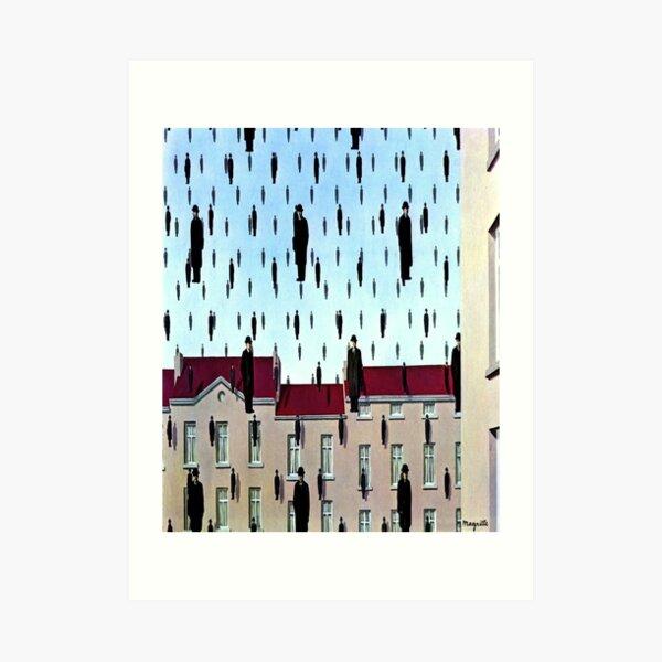 Golconda de René Magritte Lámina artística