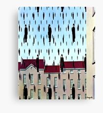 Golconda by  René Magritte Canvas Print