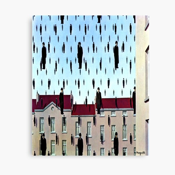 Golconda by  René Magritte Canvas Print