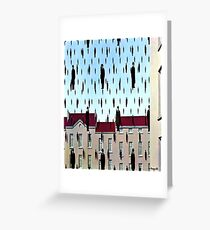 Golconda by  René Magritte Greeting Card