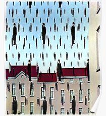 Golconda von René Magritte Poster
