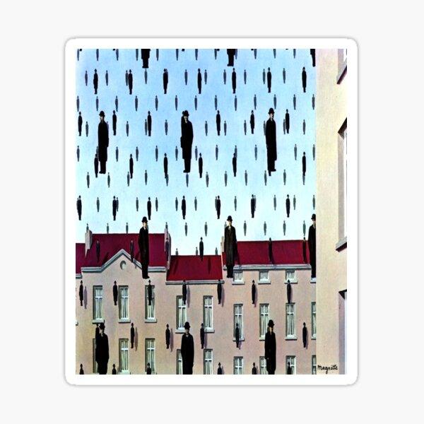 Golconda par René Magritte Sticker