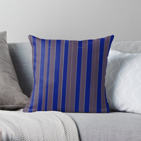 Taupe blue executive stripe pattern    Throw Pillow