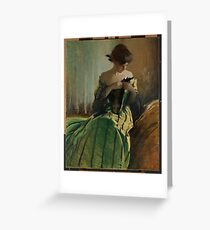 Lady in Black and Green , John White Alexander Greeting Card