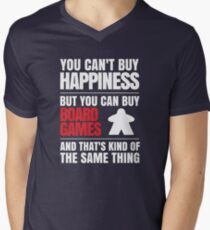 You can't buy happiness but you can buy board games Men's V-Neck T-Shirt