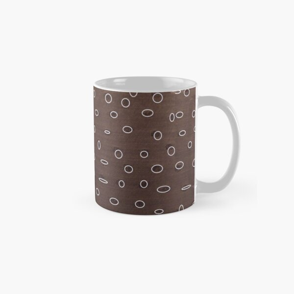 Omni dots elegant brown and white pattern Classic Mug