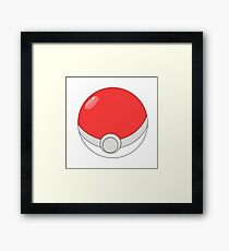a pokeball Framed Print