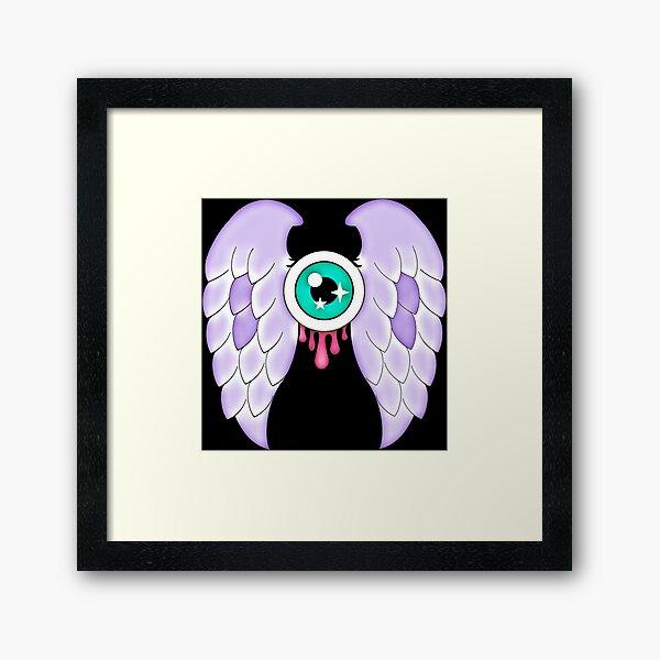 Pastel Goth   Winged Eye   Black Framed Art Print