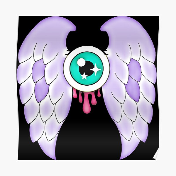 Pastel Goth | Winged Eye | Black Poster