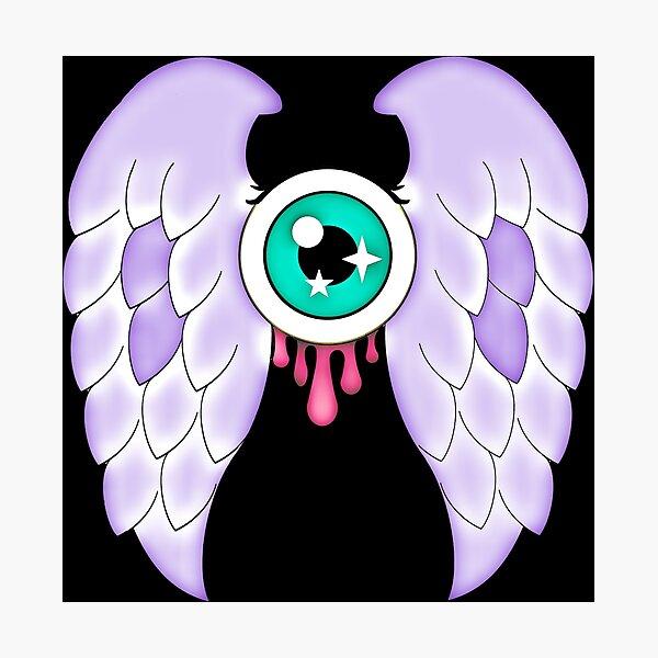 Pastel Goth | Winged Eye | Black Photographic Print