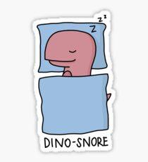 'Dino-Snore' Illustration Sticker