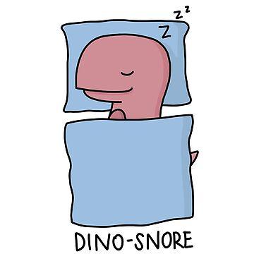 Ilustración 'Dino-Snore' de bloemsgallery