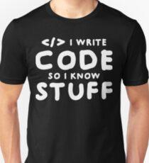 Programmers know stuff T-Shirt