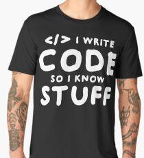 Programmers know stuff Men's Premium T-Shirt