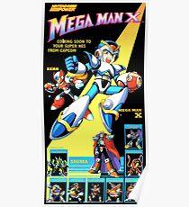 Mega Man X Restored Nintendo Power Poster Poster