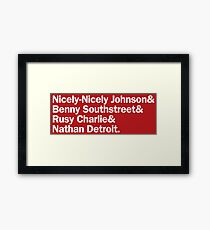 Guys and Dolls Gamblers | Red Framed Print