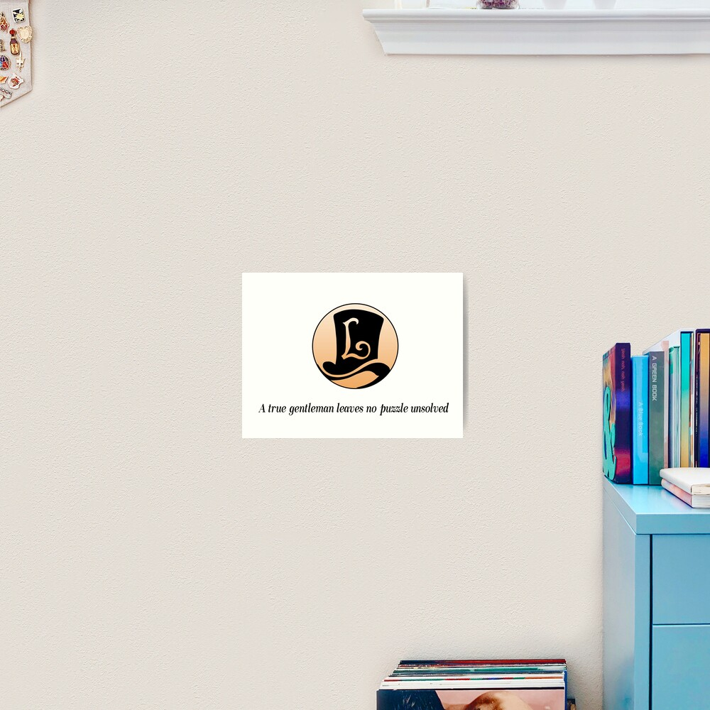 Professor Layton Logo Art Print