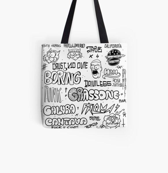 Traditional graffiti flash set - 90s All Over Print Tote Bag