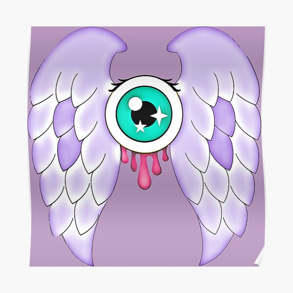Pastel Goth | Winged Eye | Purple Poster