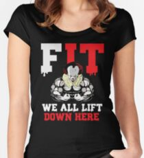 We All Lift Down Here Women's Fitted Scoop T-Shirt