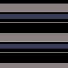 Black blue aluminum color block stripe pattern by HEVIFineart