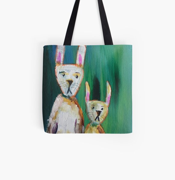 Bunnies at the Aurora All Over Print Tote Bag