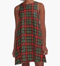Hunter Green Red Plaid A-Line Dress