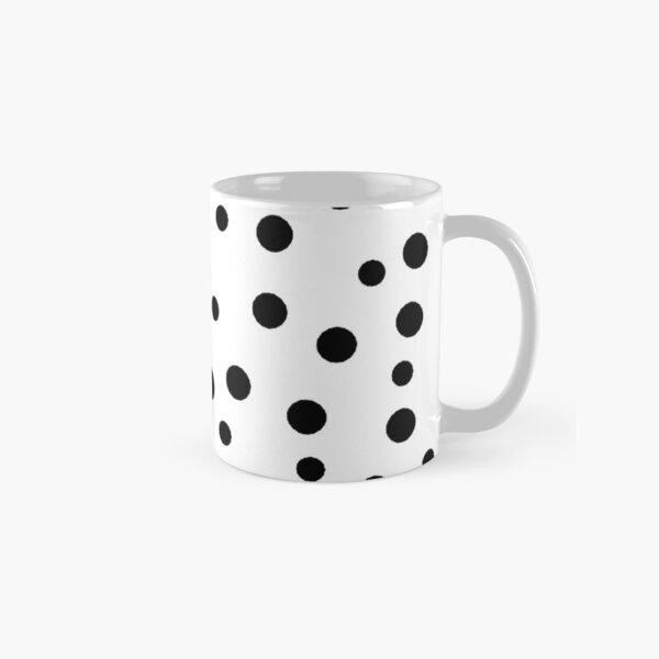 Black polka dots pattern Classic Mug