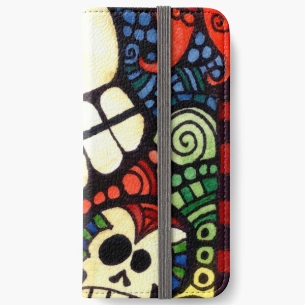 Day of the Dead Sugar Skulls iPhone Wallet