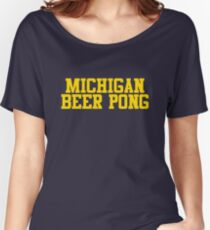 Michigan Beer Pong Women's Relaxed Fit T-Shirt