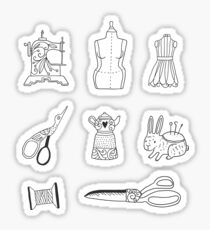 Vintage sewing  Sticker