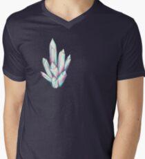 Kristall Diamant T-Shirt mit V-Ausschnitt für Männer