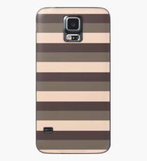 Taupe monochromatic color block stripe pattern  Case/Skin for Samsung Galaxy