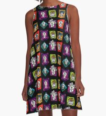 Day of the Dead Sugar Skulls A-Line Dress