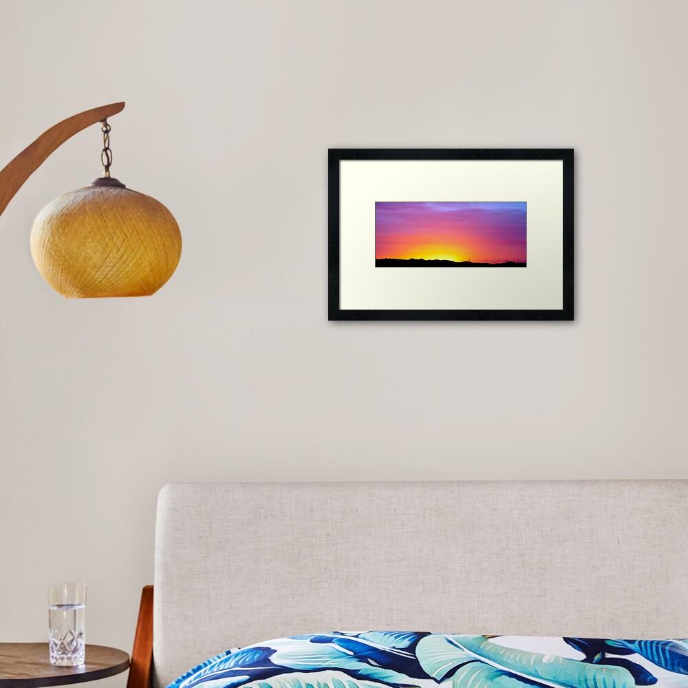 Sunset at Albany Framed Art Print