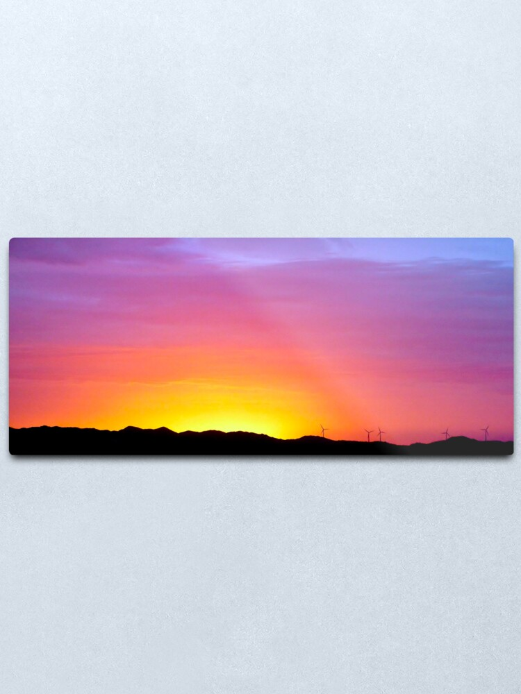 Alternate view of Sunset at Albany Metal Print