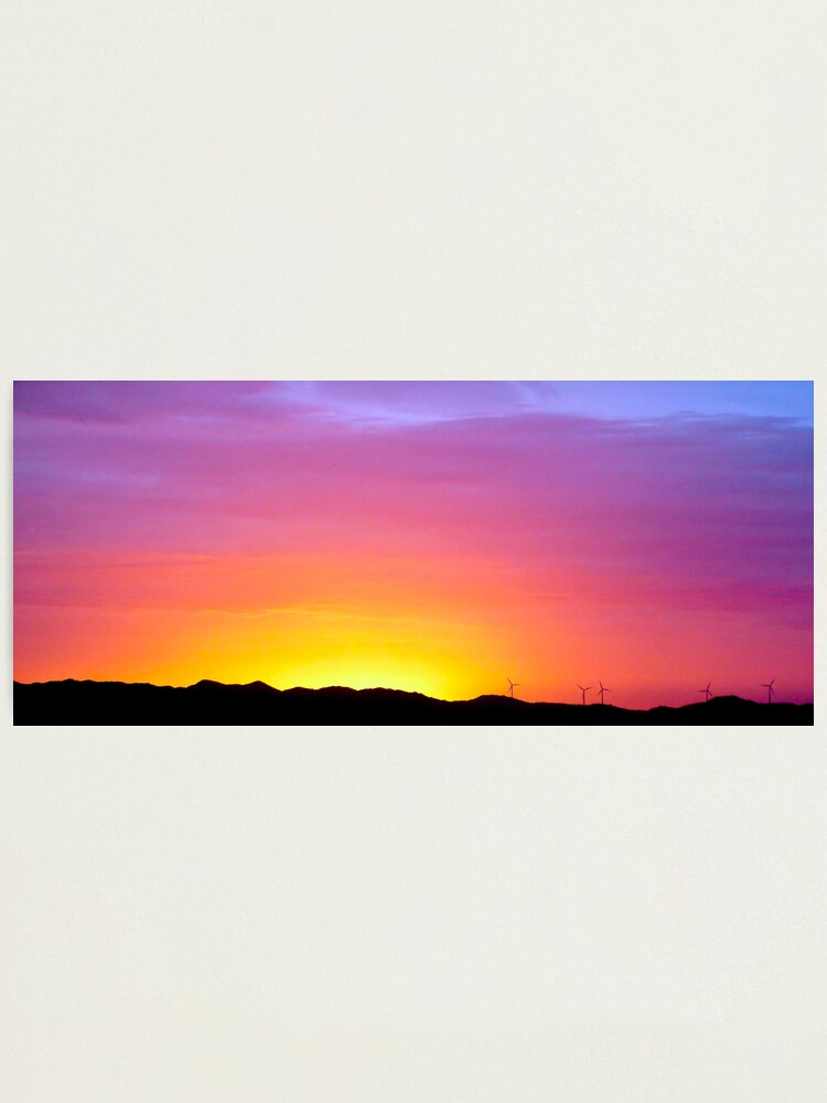 Alternate view of Sunset at Albany Photographic Print