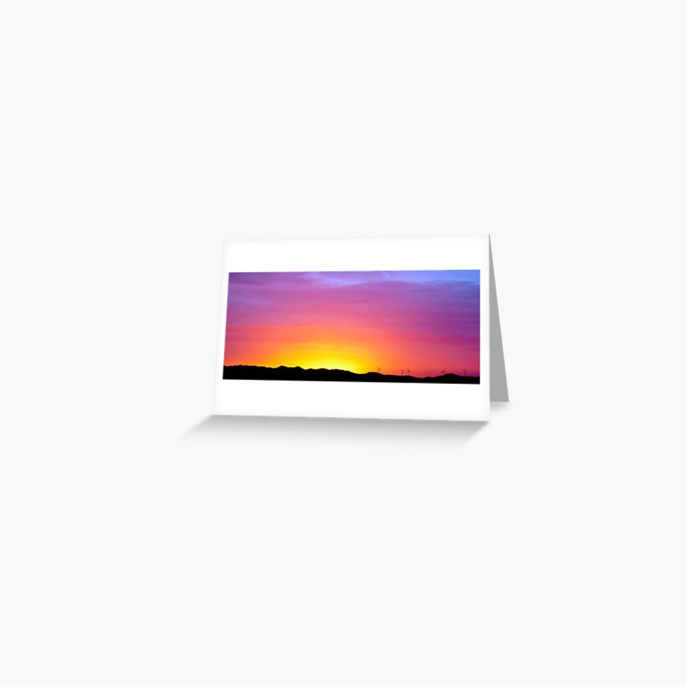 Sunset at Albany Greeting Card