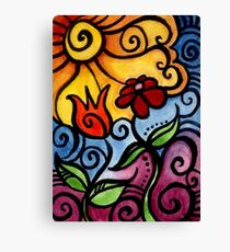 Colorful Summer Sun Flowers Canvas Print