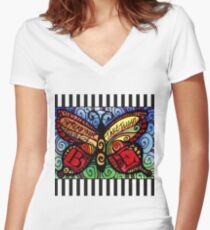 Spread Your Wings Inspirational Butterfly Women's Fitted V-Neck T-Shirt