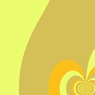 Multicolor Yellow swirl abstract pattern by HEVIFineart