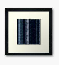 Blue Denim with black stripe pattern Framed Print