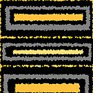 Black ochre yellow gold gray abstract geometric pattern     by HEVIFineart