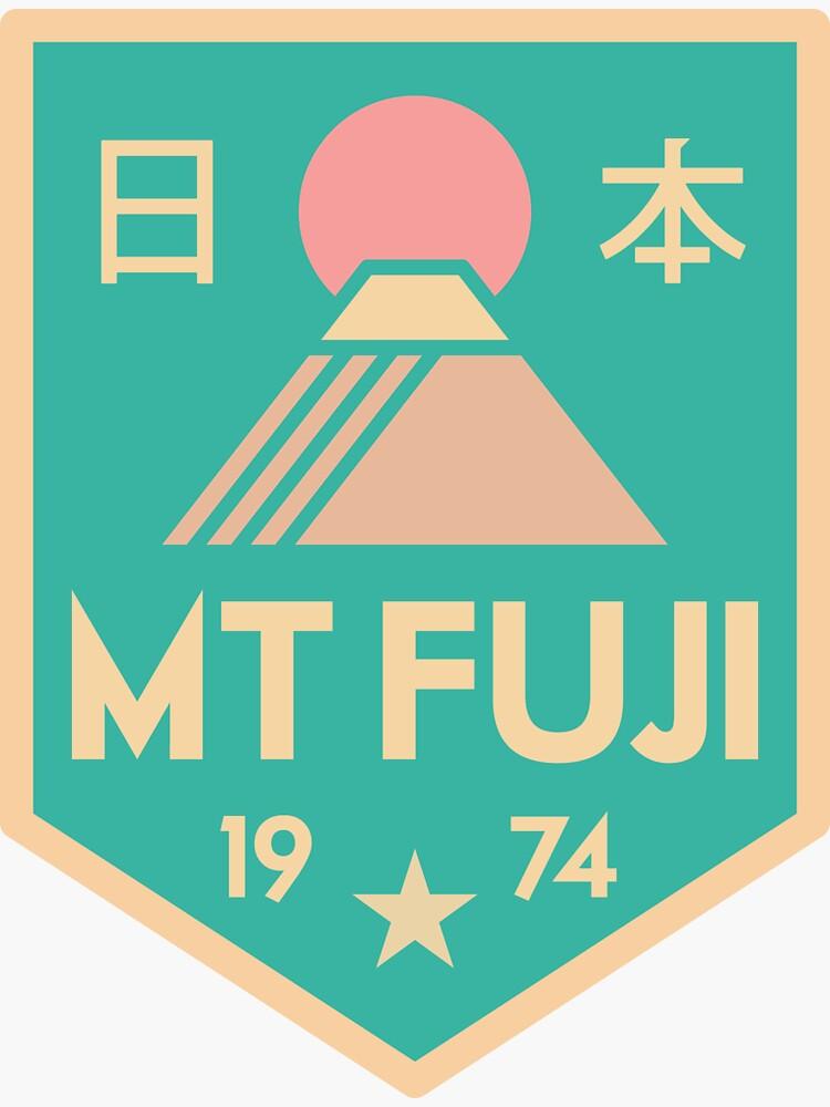 Mount Fuji retro badge by JamesShannon