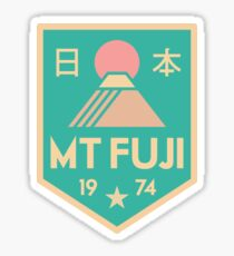 Mount Fuji retro badge Sticker