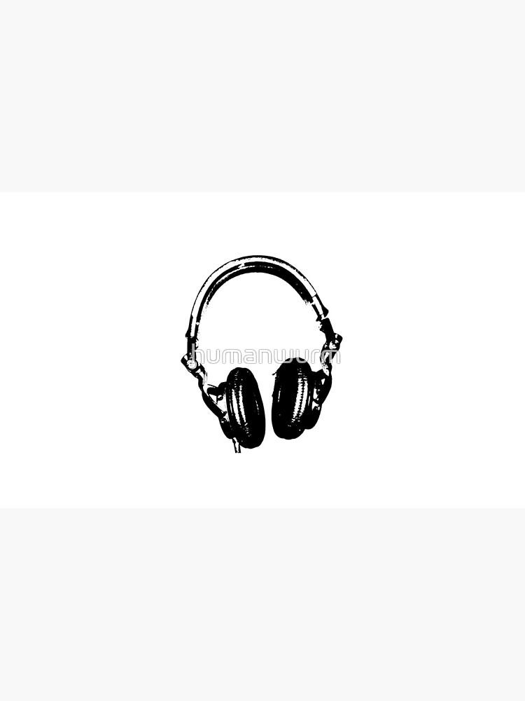 Auriculares para DJ Estilo de estarcido de humanwurm