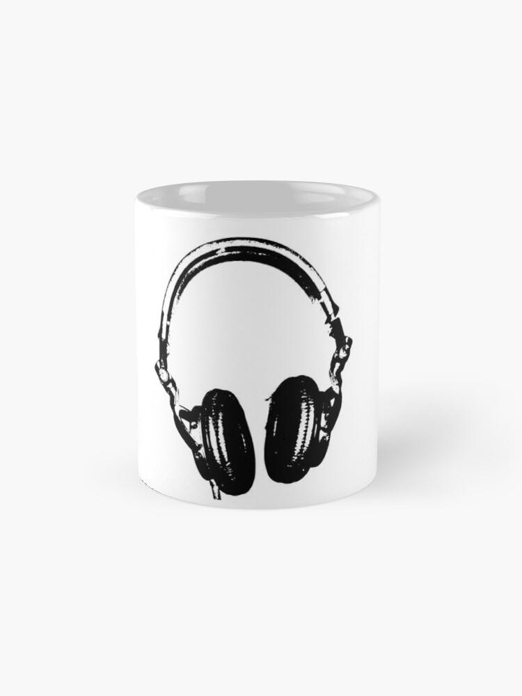 Vista alternativa de Tazas Auriculares para DJ Estilo de estarcido