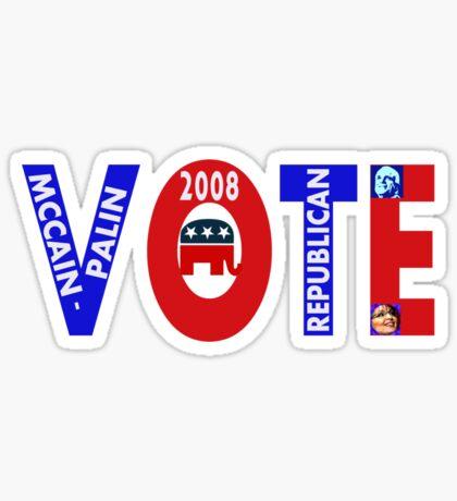 VOTE MCCAIN-PALIN 2008  Sticker