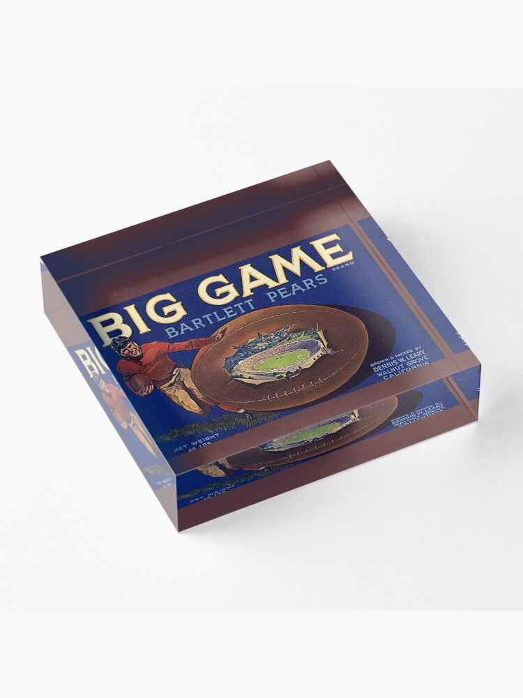 Alternate view of 1930s Football Game Cal-Stanford Acrylic Block