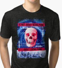 Skull Punk Tri-blend T-Shirt
